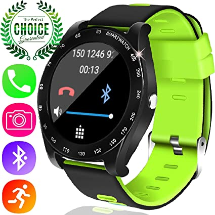 Yakoo Smart Watch Fitness Tracker, Touch Screen Outdoor Sport Smartwatch for Men Women with Sim Card Slot Pedometer Sleep Monitor Timer Camera Music ...