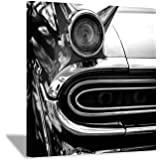 Car Picture Canvas Wall Art: Vintage Automobile Painting Print for Living Room