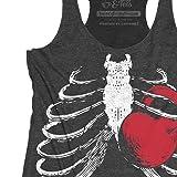 Women's Gym Workout Tank top Ribcage Kettlebell