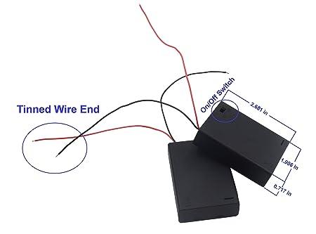 Amazon Com Lampvpath 3pcs 3 Aa Battery Holder With Switch 4 5v
