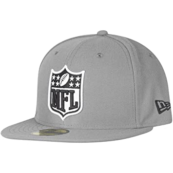 3b0acc896 New Era 59Fifty Fitted Cap - NFL SHIELD Logo grey  Amazon.co.uk ...