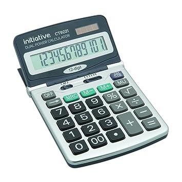 Adjustable 12 Digit Dual Power Large Display Desktop Calculator