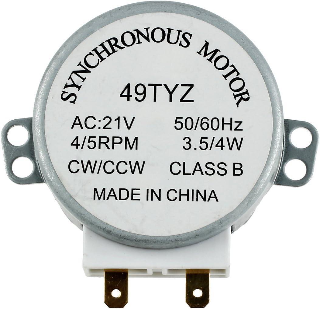 SODIAL(R) Motor sincronico de plato giratorio del horno de onda mini 3W 5 / 6RPM AC 21V 50 / 60Hz