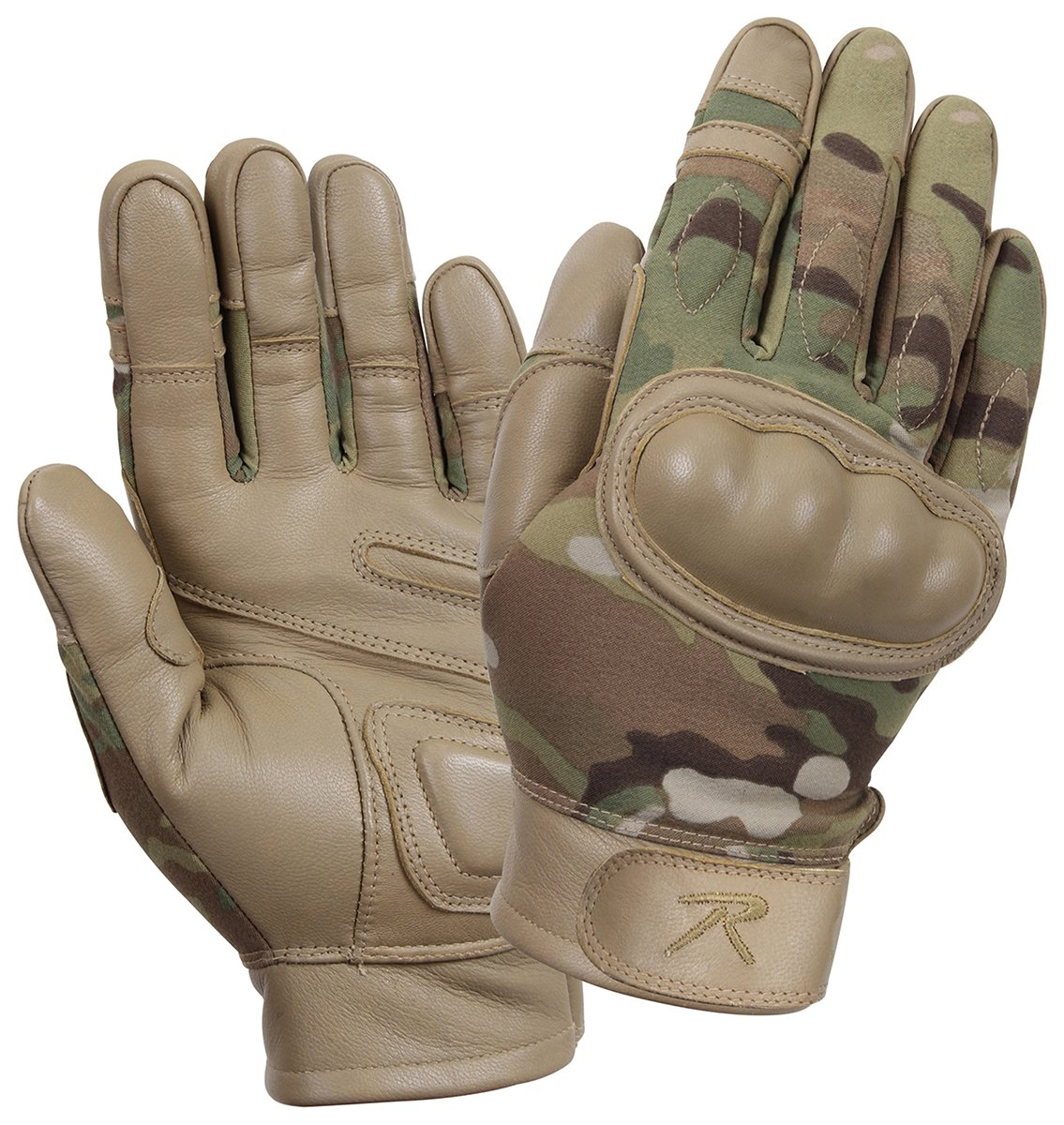 Rothco Hard Knuckle Tactical Gloves, Multicam, Small 3424SML