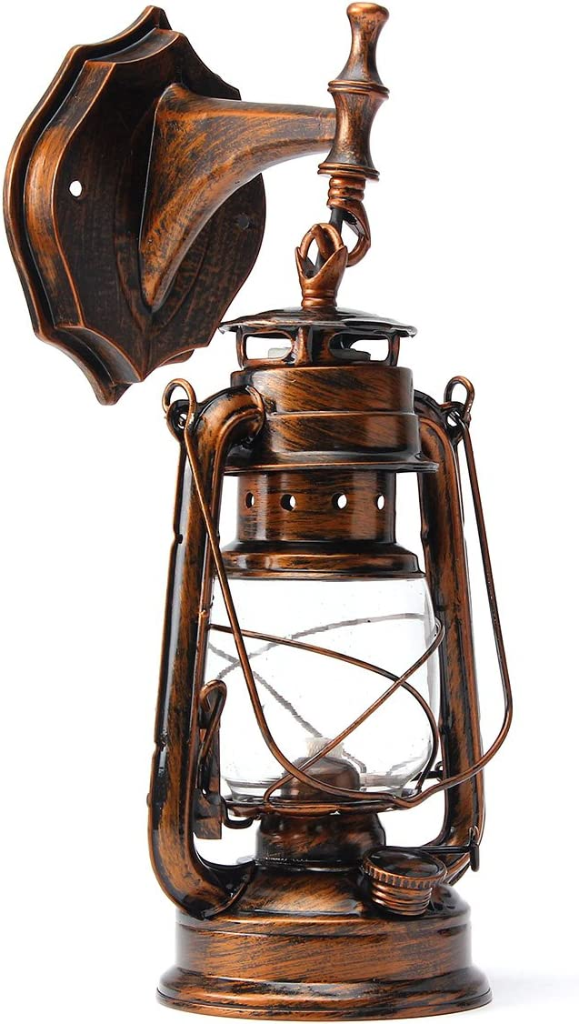 MELISSA LED Indoor Wall Lamps e27 Retro Classic Kerosene Lamp Wall Light Sconce Holder Portable Lights Adornment Bar Club Coffee Shop Restaurant - by 1 PCs