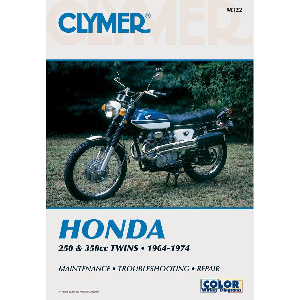 Clymer Honda Twins 250 350cc Manual M322 Automotive Gl1800 Cb Wiring Diagram