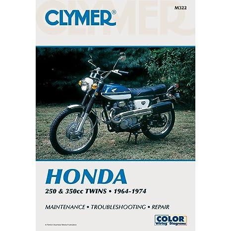 amazon com clymer honda twins 250 350cc manual m322 automotive rh amazon com honda cb500 twin wiring diagram 2012 Honda Civic Transmission Wire Diagram