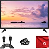 Sansui 32-Inch 720p HD DLED TV (S32P28) Slim Lightweight with Built-in HDMI, USB, VGA, High Resolution Bundle with Circuit Ci
