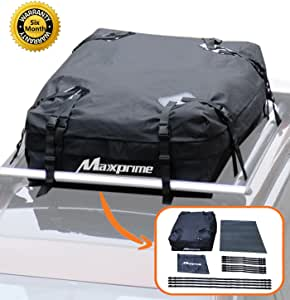 MAXXPRIME Rooftop Cargo Bag, Soft Roof top Luggage Carriers with Roof Protective Mat, Wide Straps - Works with or Without Roof Rack, Best for Traveling, Cars, Vans, SUVs