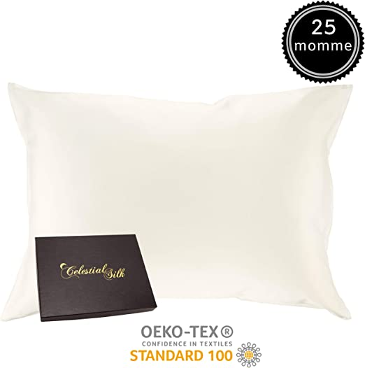Amazon Com 100 Silk Pillowcase For Hair Zippered Luxury 25 Momme