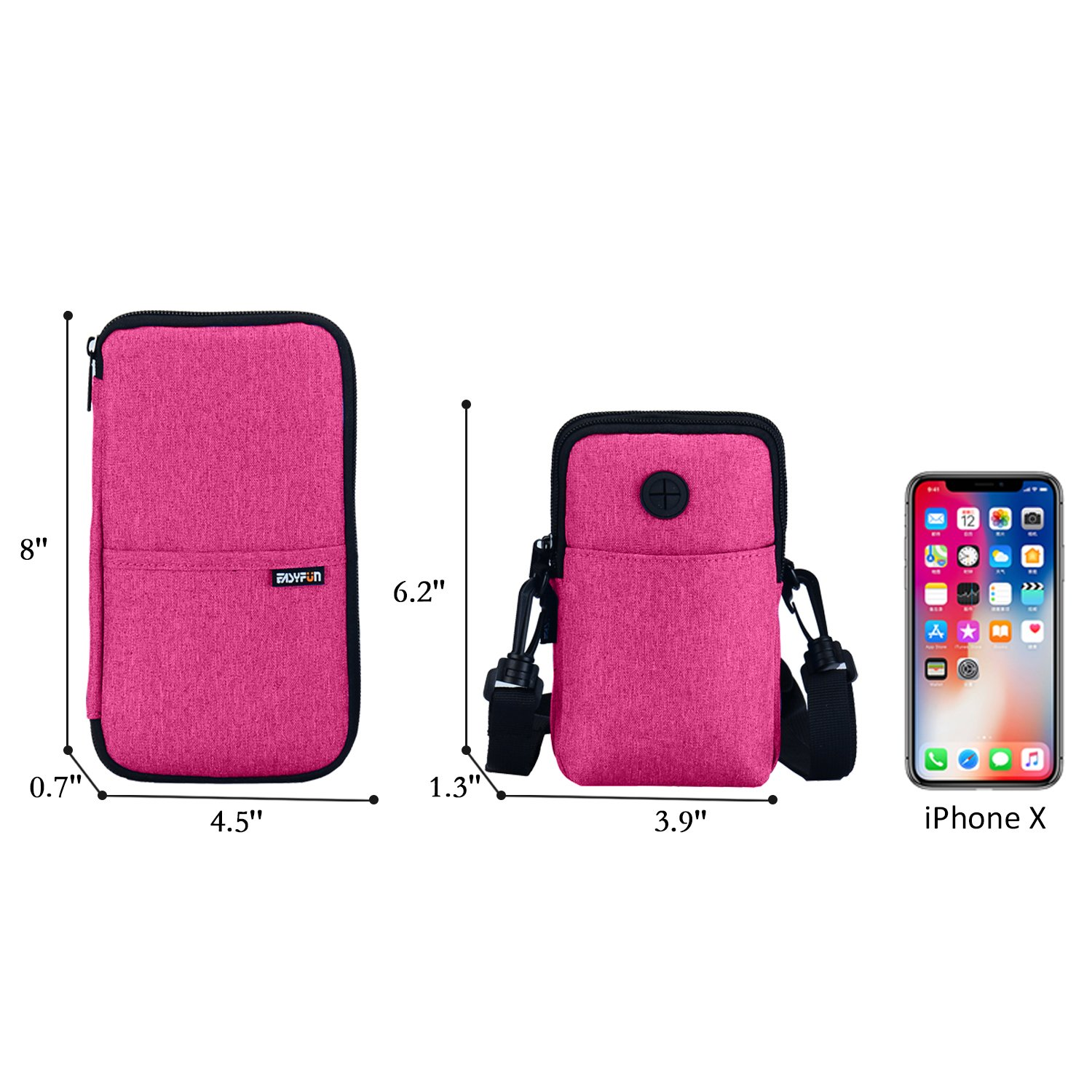 Easyfun RFID Passport Holder Cover With Neck Pouch Travel Wallet Case For Men /& Women