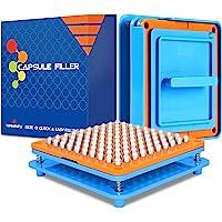 Wananfu - Capsule vulmachine grootte 0 met gedetailleerde instructies, 100 gaten, gebruik met lege gelatine of…