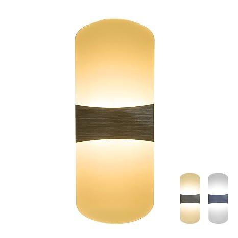 Lámpara de Pared 6W 3 en 1, NetBoat LED Apliques de Pared Modernos Interior Luz