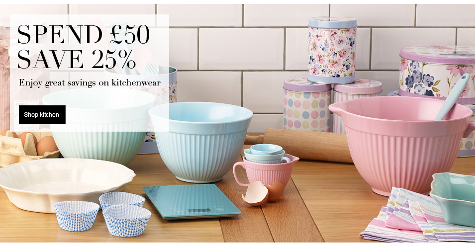 Spend £50 save 25% Enjoy great great savings on kitchenware