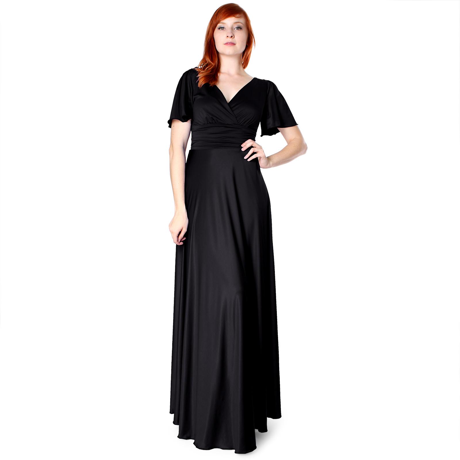 Evanese Women's Shiny Venezian Long Evening Dress with Sleeves at Sears.com