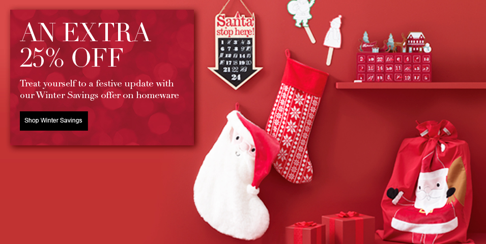 Treat yourself to a festive update with our winter savings offer on homeware