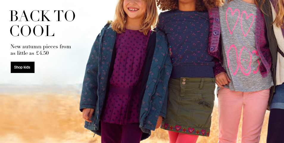 BACK TO COOL new autumn pieces from as little as £4.50