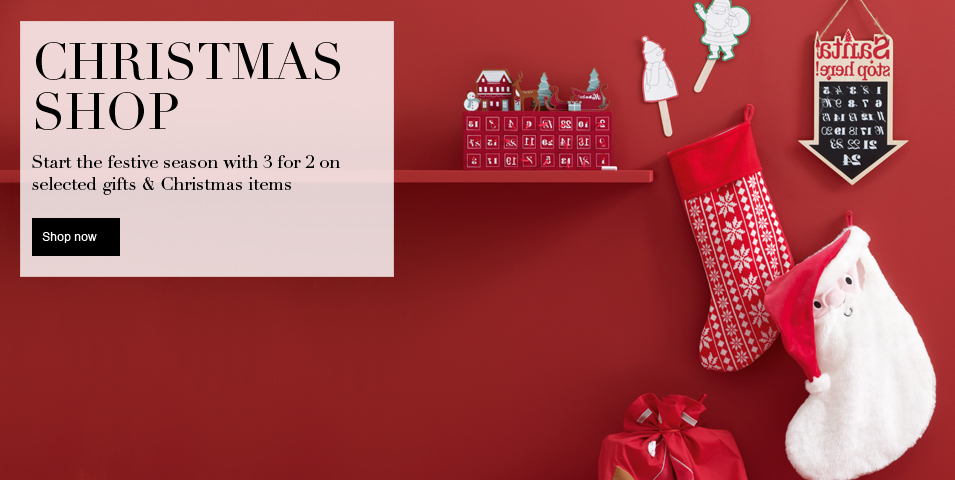 Start the festive season with 3 for 2 on selected gifts & Christmas items