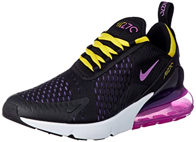 Nike Air Max 270 AH8050 006 BlackHyper GrapeYellowMagenta Men's Shoes