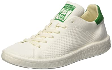 adidas Stan Smith Boost Primeknit, Baskets Basses Mixte Adulte, Blanc Footwear White/Green