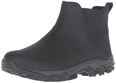 Columbia Men's Newton Ridge Plus Waterproof Slip On Shoes, Black/Charcoal,  ...