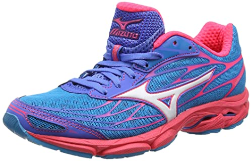 Mizuno Wave Catalyst, Women's Running Shoes, Atomic Blue/White/Diva Pink,