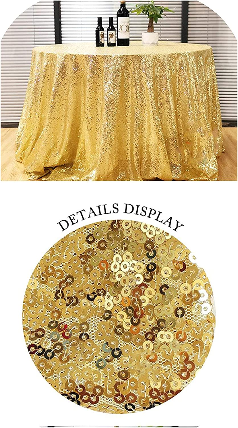Gold Sequin Tablecloth 60cm (24