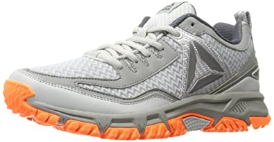 Reebok Men's Ridgerider 2.0 Trail Runner, Skull Grey/Flat Grey/Wild Orange/
