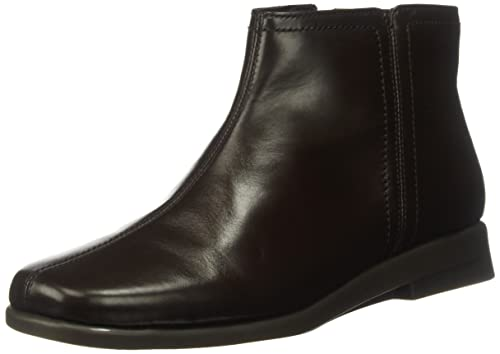 Aerosoles Women's Double Trouble 2 Ankle Bootie, Dark Brown Leather, ...