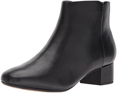 CLARKS Women's Chartli Lilac Ankle Bootie, Black Leather, ...