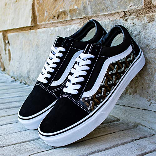 Amazon.com: Vans Old Skool x Goyard Custom Handmade Uni-Sex Shoes By ...