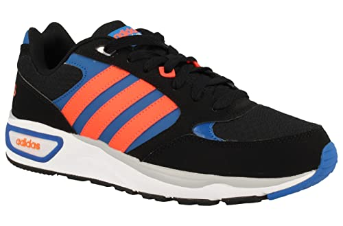 adidas neo cloudfoam 8tis black and blue trainers