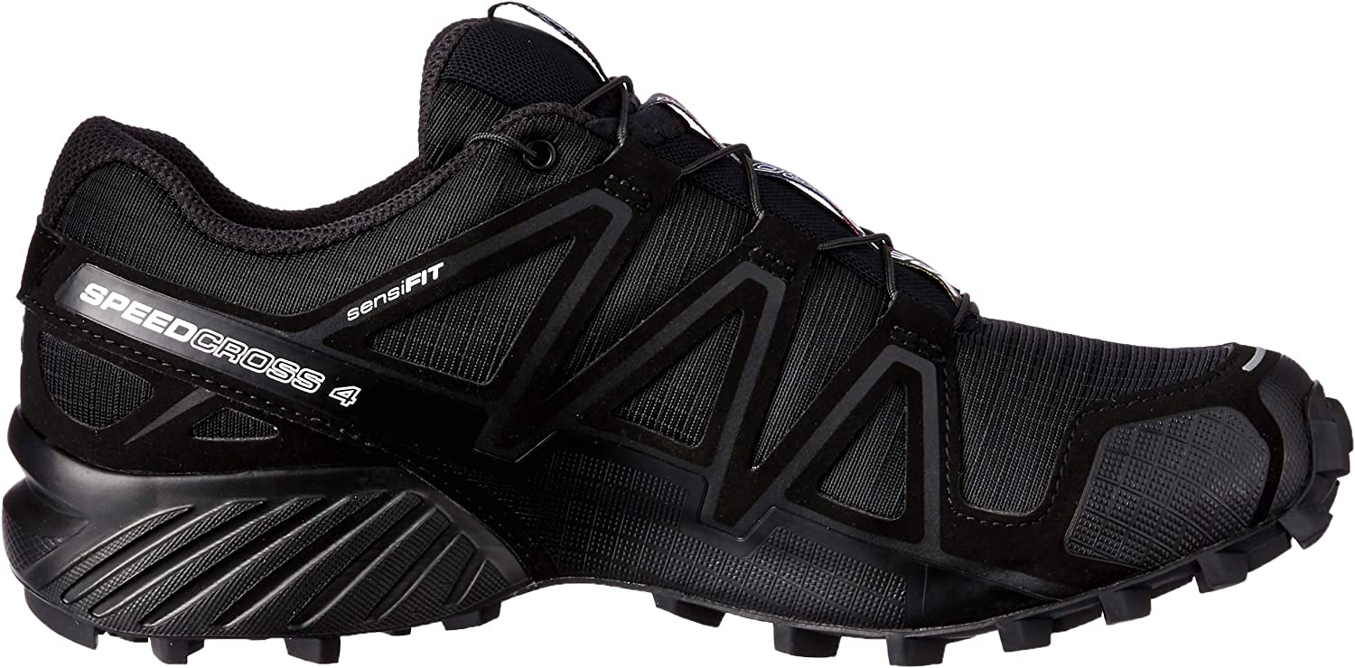 Salomon Femme Chaussures de trail running, SPEEDCROSS 4 W, Couleur: Noir (BlackBlackBlack Metallic), Pointure: EU 39 13