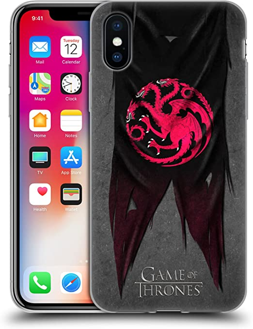 Head Case Designs Officially Licensed HBO Game of Thrones Targaryen Sigil Flags Soft Gel Case Compatible with Apple iPhone X/iPhone Xs