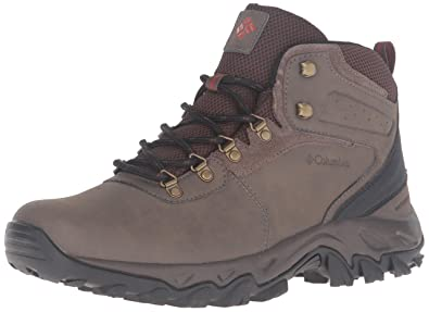 Columbia Men's Newton Ridge Plus II Waterproof Hiking Shoe, Mud, Sanguine,  ...