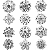 TOOKY Wholesale Lot 25pcs Wedding Bridal Crystal Brooches Brooch Pins Bouquet Kit