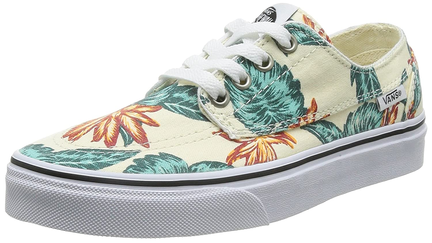 Amazon.com | Vans Brigata Vintage Aloha Classic White/True White Men's 5/  Women's 6.5 | Shoes