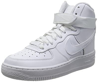 Nike Air Force 1 High (GS) Big Kids Shoes White 653998-100 (