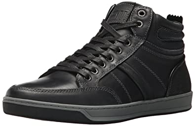 Steve Madden Men's Cartur Sneaker, Black Leather, ...