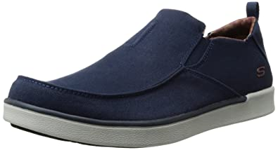 Skechers USA Men's Boyar Lented Slip-on Loafer,Navy,7 ...