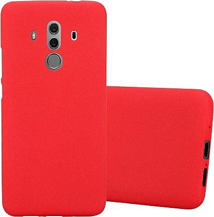 Cadorabo Coque pour Huawei Mate 10 Pro en Frost Rouge - Housse Protection Souple en Silicone TPU avec Anti-Choc et Anti-Rayures - Ultra Slim Fin Gel ...