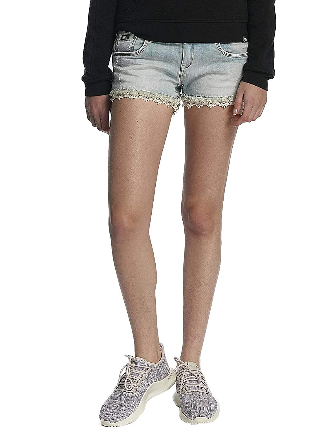 Superdry Shorts Damen LACE Trim HOT Short Canyon Tint