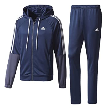 blue adidas tracksuit womens