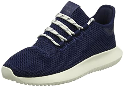 adidas Tubular Shadow, Baskets basses mixte enfant - Bleu (Collegiate Navy/Chalk White