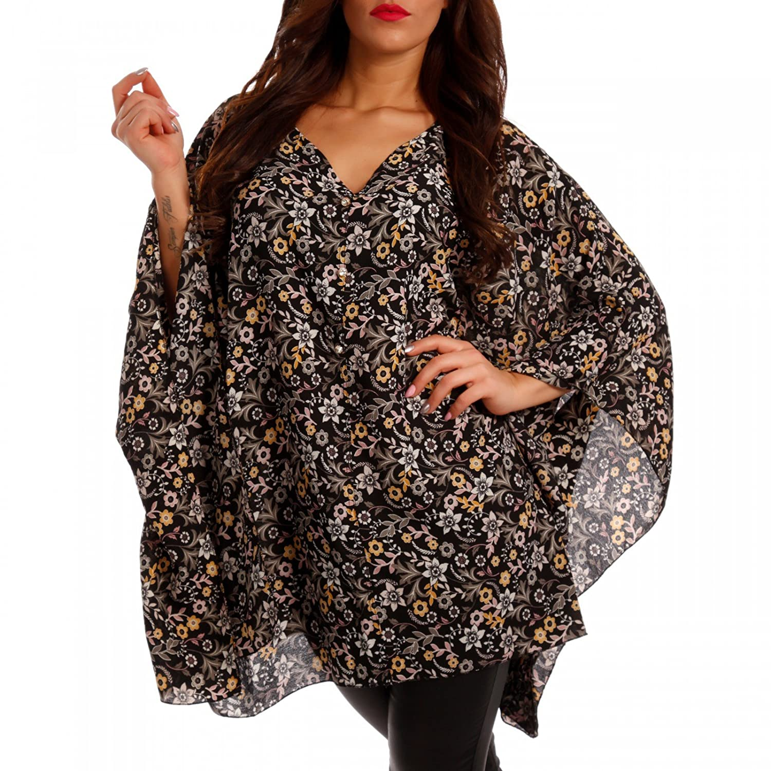 Young-Fashion Damen Oversize Shirt Strandshirt Hippie Tunika Strandkleid  Bluse: Amazon.de: Bekleidung
