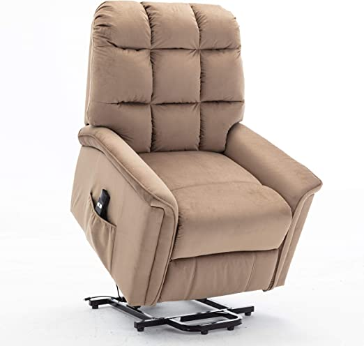 Bonzy Home Recliner New Electric Powered Lift Recliner Chair with Remote Control Home Theater Seating Bedroom & Living Room Chair Recliner Sofa