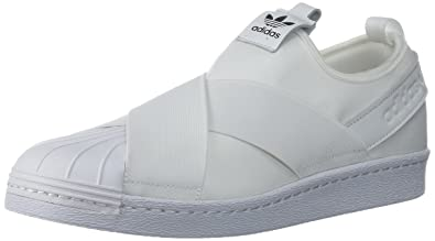 adidas Originals Women's Superstar Slip on W Sneaker, White/White/Black,  10.5