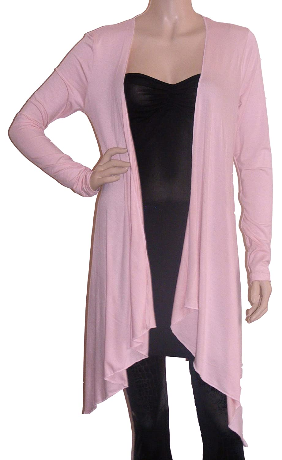 Lady Rich Long Sleeved Waterfall Cardigan (UK Size 8 - 22): Amazon ...