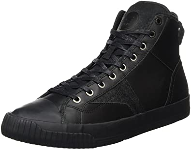 G-Star Raw Men's Campus Scott Raw High Fashion Sneaker, Black Mono, 40