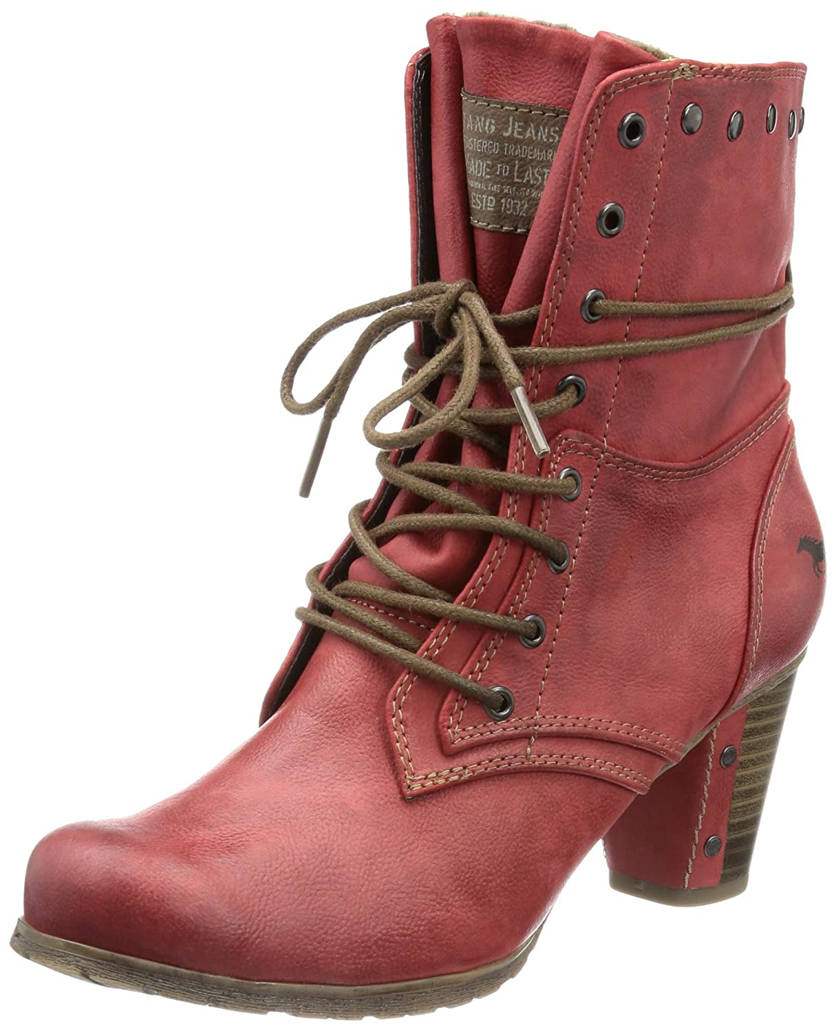amazon mustang stiefel rot